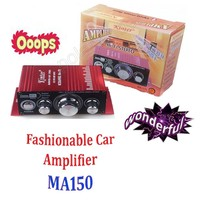 Car Amplifier Mini 2CH Output Power Amplifier 20WX2 RMS HiFi Stereo DVD MP3 For Motorcycle Boat