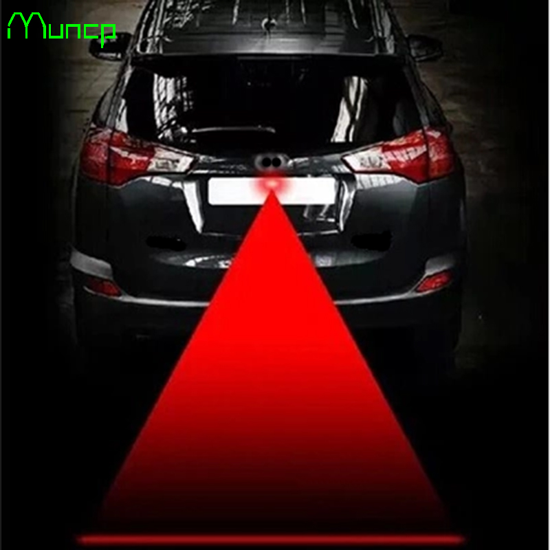 Muncp Car Tail Laser Fog Lamp Safety Warning Lights For Audi A4 B6