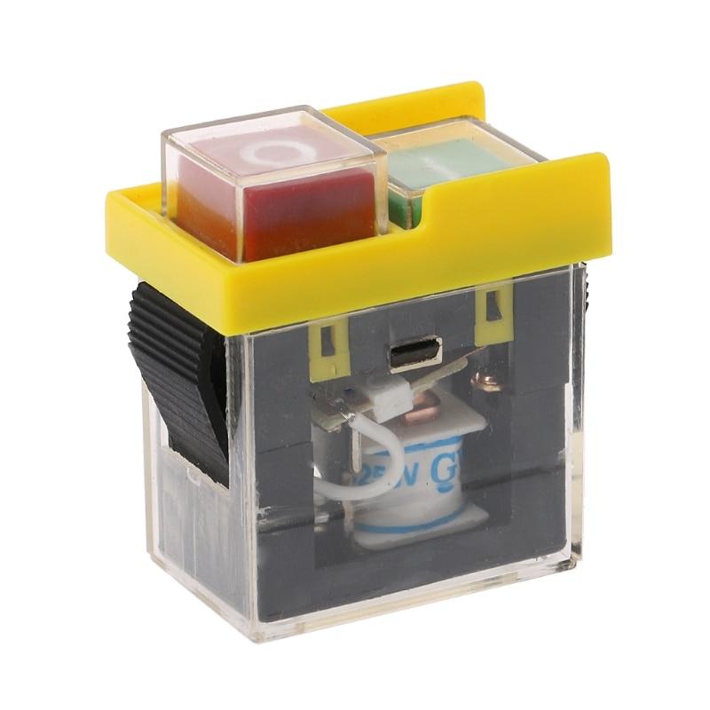 AC 250V 6A, impermeable, pulsador, máquina cortadora de sierra, interruptor de encendido apagado, interruptores de caja de Control, interruptor electromagnético KJD6 5e4