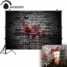 Allenjoy photography backdrop Horror brick wall dark Halloween background professional newborn photobooth photo studio