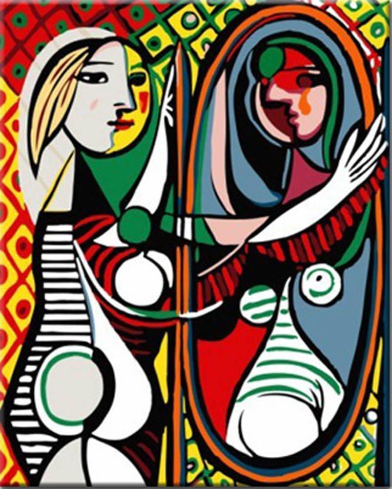 nombre del producto pintadas a mano arte moderno arte de la pared pinturas al leo abstracta espejo en lona de la pared fotos