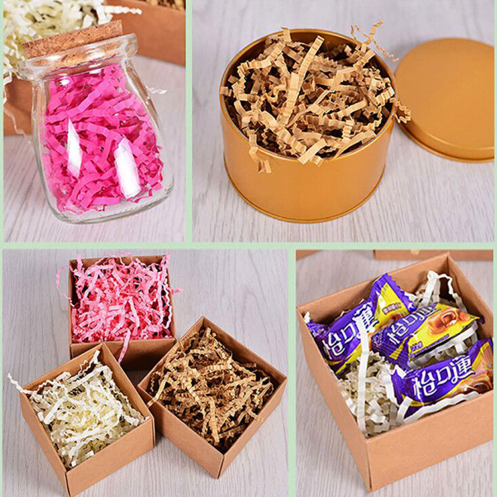 100g Crinkle Cut Paper Shred Filler For Gift Wrapping Basket Filing Packing Craft Bedding Jewelry Packaging Display Accessories in Jewelry Packaging Display from Jewelry Accessories