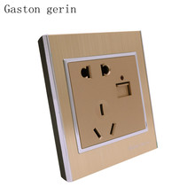 AC/DC Power Adapter Plug Outlet Panel Socket USB Wall Luxury 2.1A Charger with Led light Indicator 10A 220V 86mm