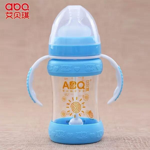 Resistência de Fluxo Médio de Diamante de Cristal Cabaça Garrafa Bpa Livre Bebê Único Carregado Sólida-Abridor de Garrafas Em Forma De Garrafa de Alimentação Do Bebê