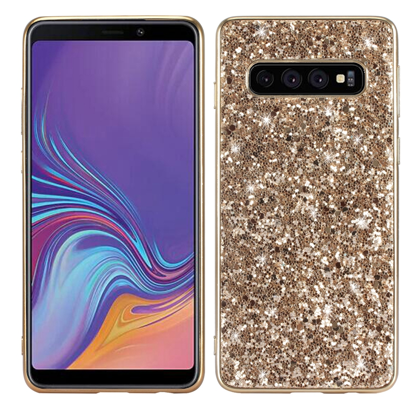 S10 Bling Case for Samsung Galaxy s10e Shiny Glitter Case for Samsung Galaxy S10 Plus 3D Bling Back Cover for Samsung Galaxy S10