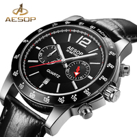AESOP Men Watch Sport Men Quartz Wristwatch Famous Brand Waterproof Shockproof Male Clock Calendar Relogio Masculino