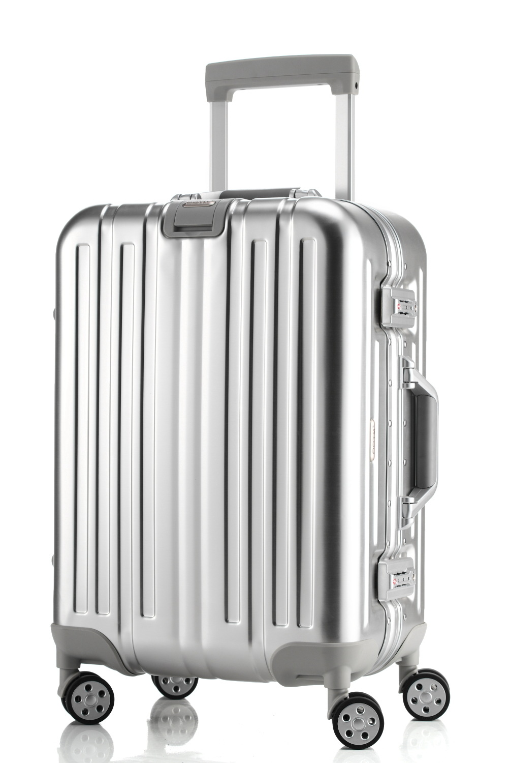 Aluminium magnesium alloy rod box high-end aluminum suitcase and boarding box universal wheel business luggage bags