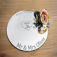 Personalised Wedding Cake Board with Name & Date Bakers Gift Cake Stand Plate Topper Gift For Weddings Birthday Cake Board