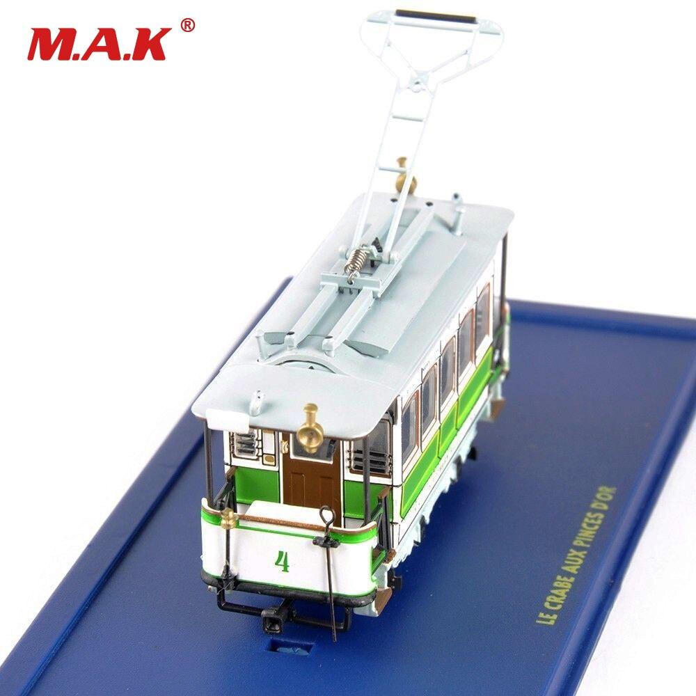 Diecast zug modell 1: 87 Scale Modell 1/87 L ECRABE AUX PINCES D'OR Straßenbahn Diecast Bus Sammlung Spielzeug