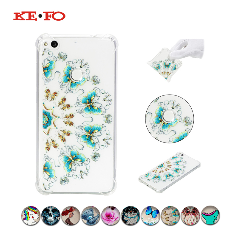 KeFo For Funda huawei P8 lite 2017 Tapa Case Silicon TPU Cover For Huawei P9 lite P10 lite Mobile Phone Accessories Cases Covers