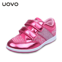 UOVO 2016 New Spring Autumn Children Shoe Girls Shoes Sports Shoe Solid Color Breathable Children Casual Shoes For Female