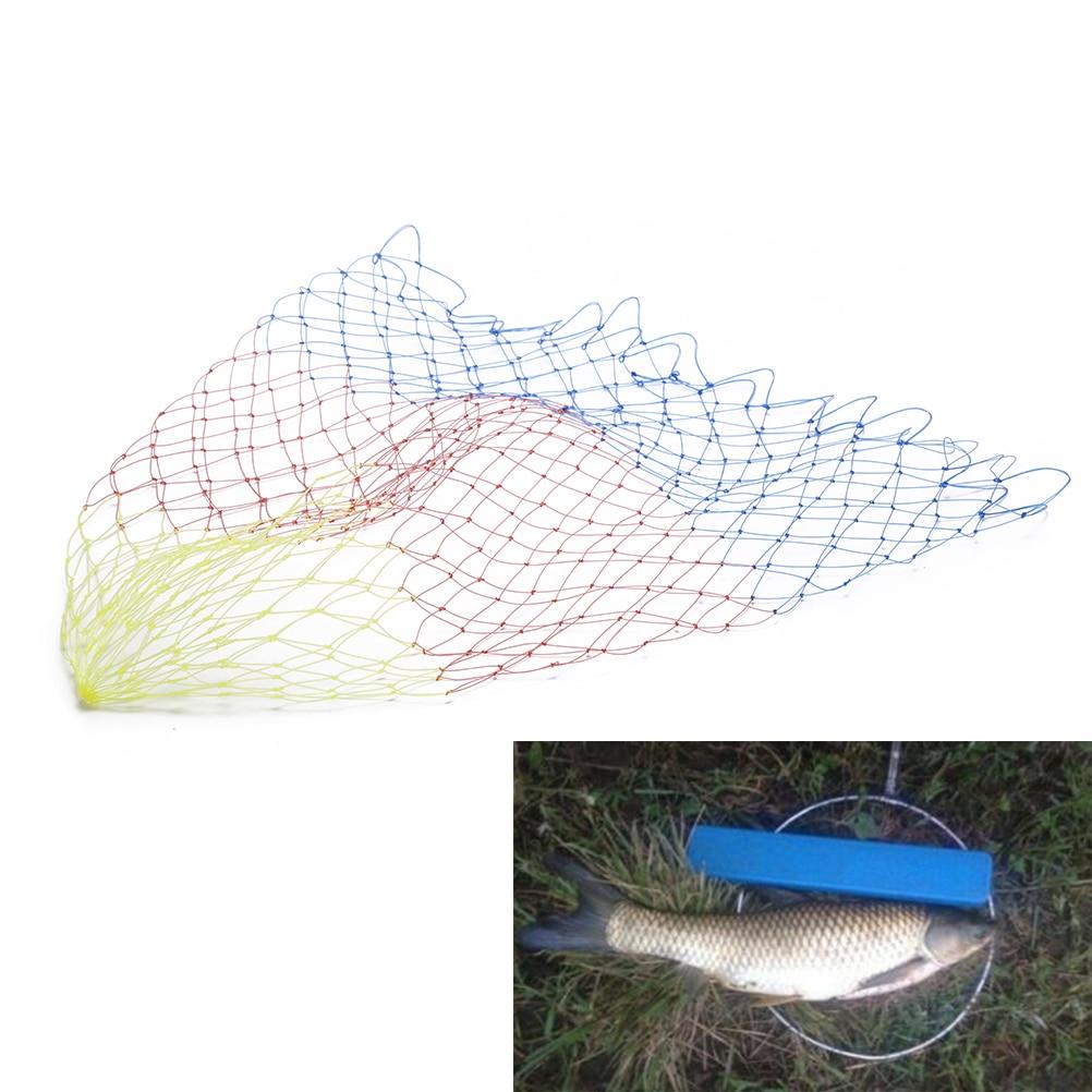 Dip Net Fishing Tackle Hole Collapsible Nylon Rhombus Mesh Fishing Nets