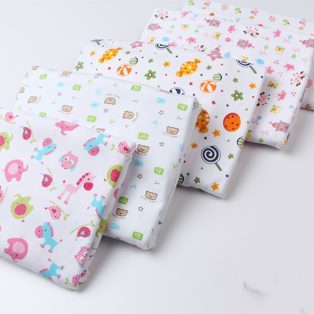 f3945029e86 Stretchy baby cotton fabric Printed knitted cotton jersey fabric for DIY  sewing newborn baby clothes bed