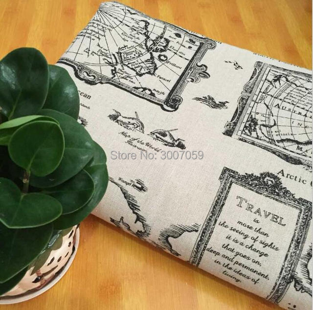 150cm x 50cm wholesale bulk world map cotton linen fabric in fabric 150cm x 50cm wholesale bulk world map cotton linen fabric gumiabroncs Gallery