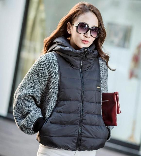 Vrouwelijke Winterjas.Nieuwe Mode Vrouwelijke Vrouwen Winterjas Jas Mouw Wol Knit Splitsen