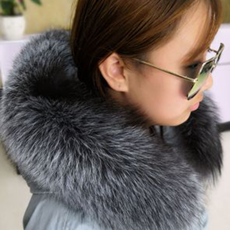 2019 New Women'S Leather Fur Collar Artificial Fox Fur Collar Multi-Color Shawl Collar Fur Female Fashion Autumn And Winter Warm