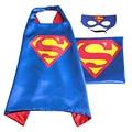 Маска + плащ супермен человек-паук дети супергерой мысы бэтмен костюм супергероя костюмы для мальчиков для девочек партии