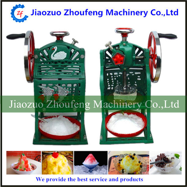 Manual shaved ice machine