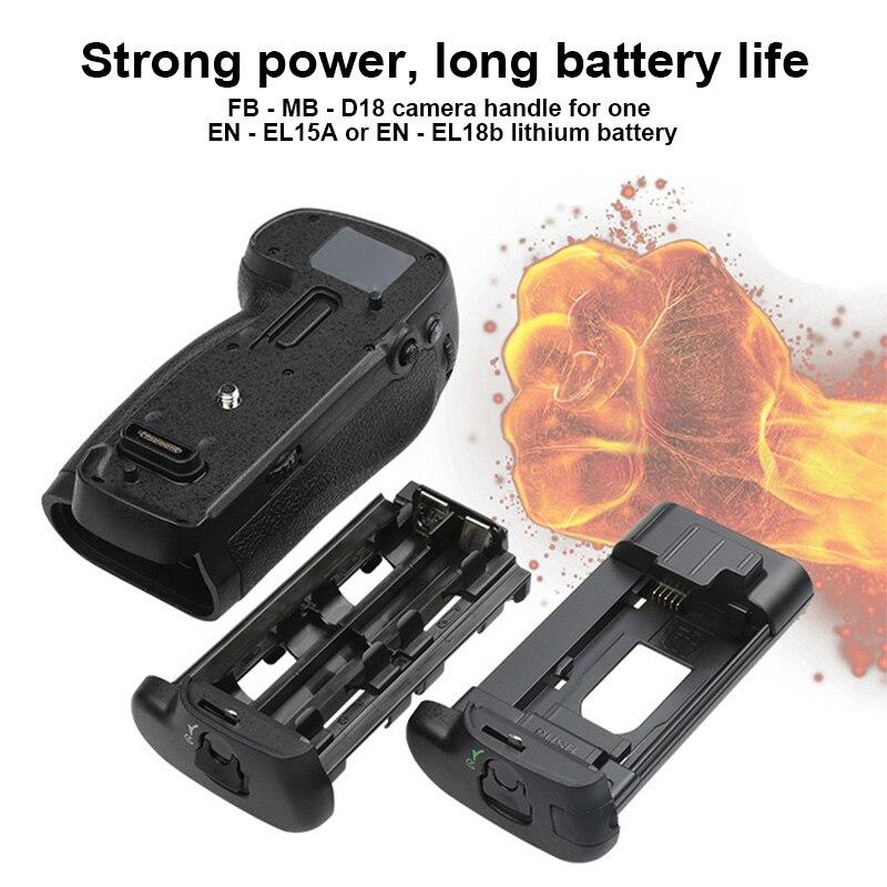 Professional Battery Grip Compatible with EN-EL15A/ EN-EL18B/ AA Battery for Nikon D850 Camera @JH en el15a 7 4v 3200mah battery pack for nikon mb d11 std nd7000