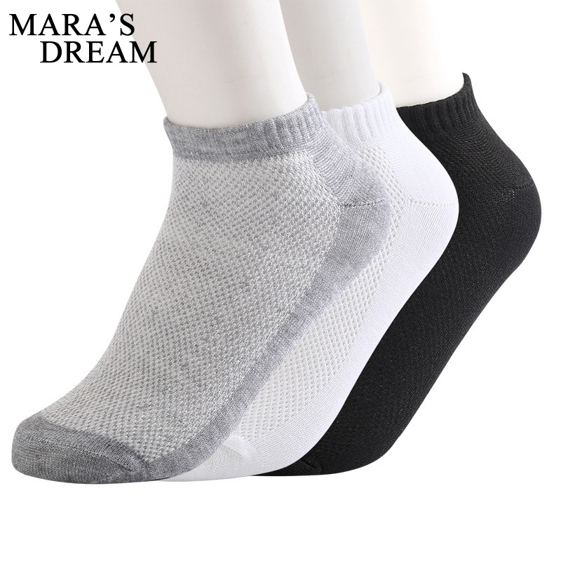 5 Pairs Men Short Socks Breathable Low Cut Boat Socks Slippers Comfortable Ankle Male Socks