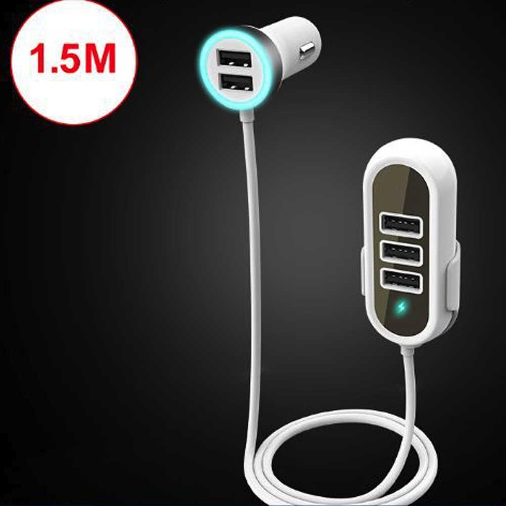 Q8T 5.8A 5 Порты и разъёмы зарядных порта USB для автомобиля Зарядное устройство передних и задних сидений QC 3,0 Автомобиля Зарядное устройство адаптер для карт памяти для нескольких сиденье зарядки