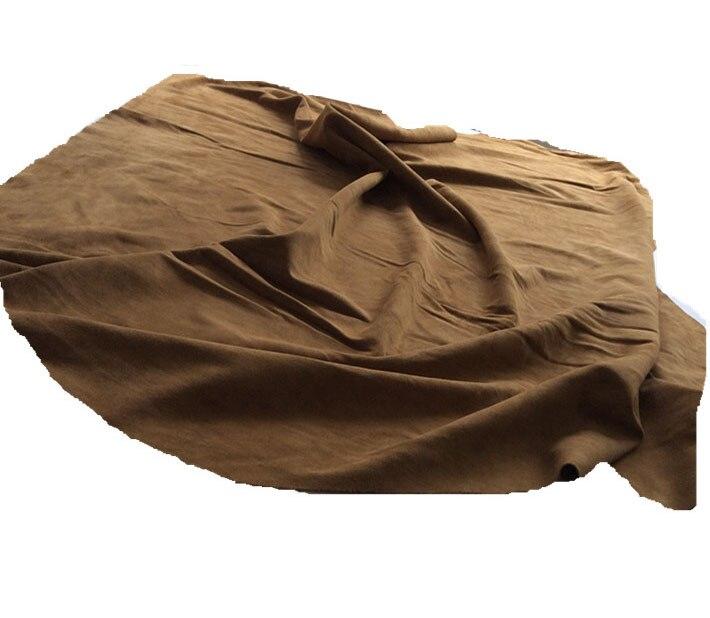 Auténtica piel de vaca de ante de cuero de vaca materia prima pieza entera - 6