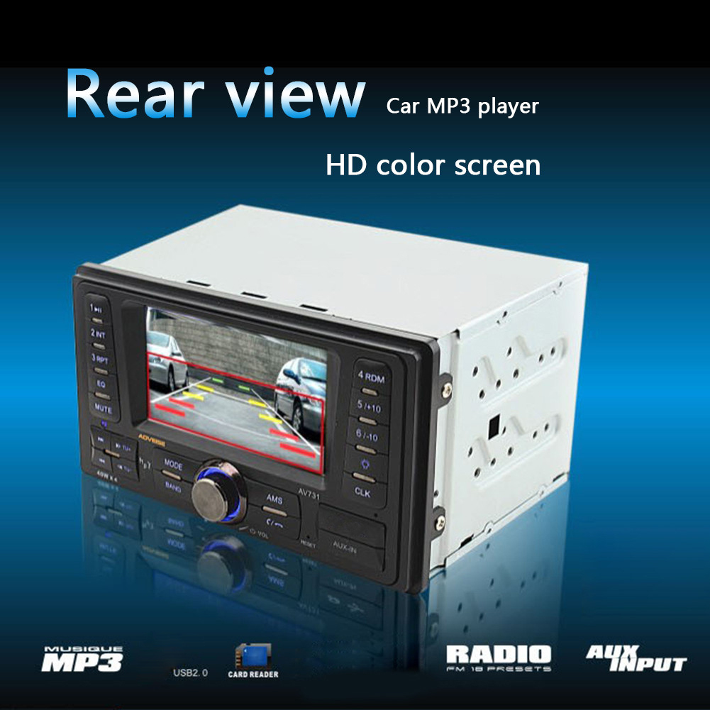 HOT 2 Din Car Radio MP5 Player Stereo Radio FM/MP3/MP4/Audio/Video/USB In Dash Radio Player Support Rear View Camera Function 4019r car radio audio stereo 4 1inch tft screen support rear view camera fm audio mp3 mp4 mp5 usb sd aux in player remote contro