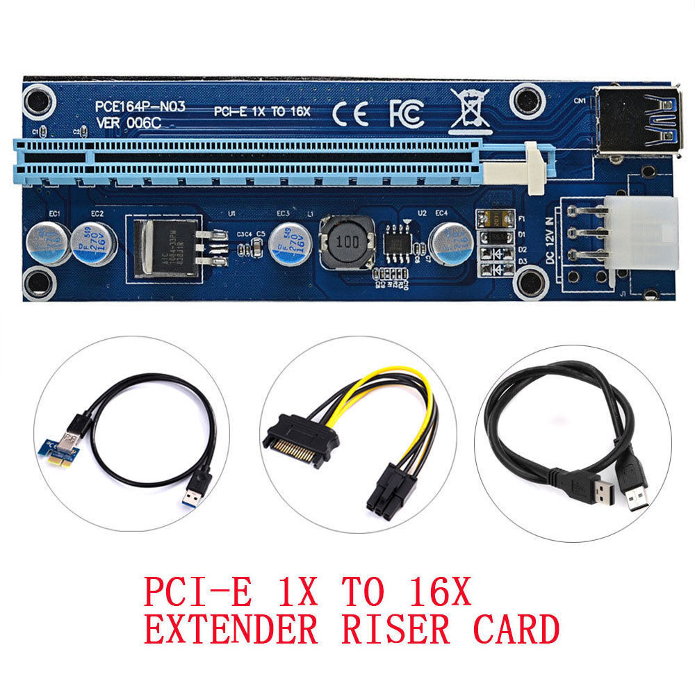 Ngff M.2 Key M To Pci-e 1x 16x Graphics Card Mining Slot Adapter Riser Converter Card With Led 4x 8x