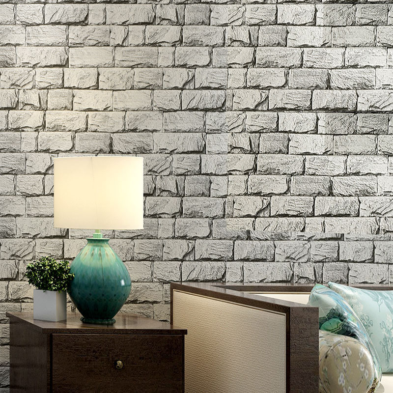 Classic 3D Stone Brick PVC Deep Embossed Wallpaper Living Room Bedroom Home Decor Wall Paper Stone Rock Waterproof Wall Covering 3d coconut tree beach sunshine pvc wall sticker sea water stone blue sky full color decals home decor