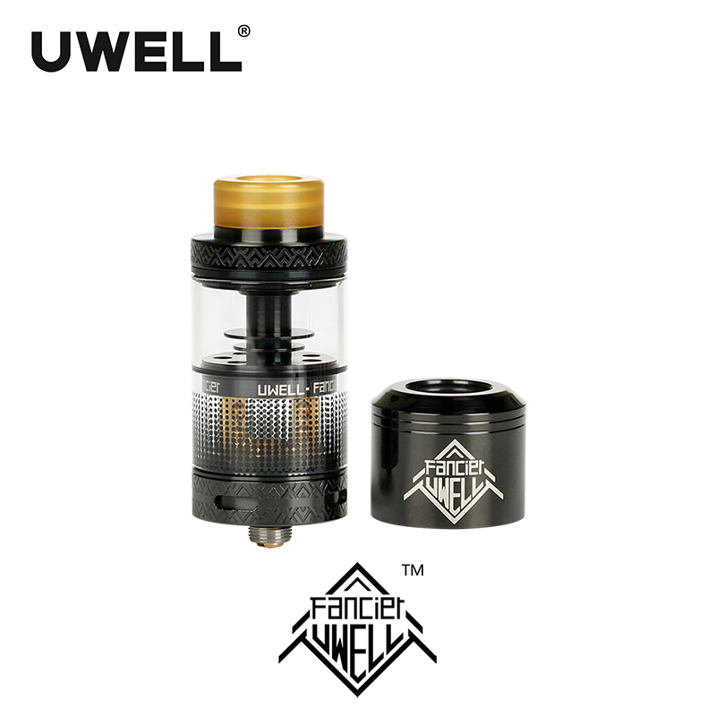 In stock!!! UWELL FANCIER Atomizer 4ml Tank RTA & RDA 6 Colors Electronic Cigarette Accessory Plug-pull Coils Downward Wicking new arrival high quality cotton bacon rda cotton for rda rba atomizer e cig diy electronic cigarette
