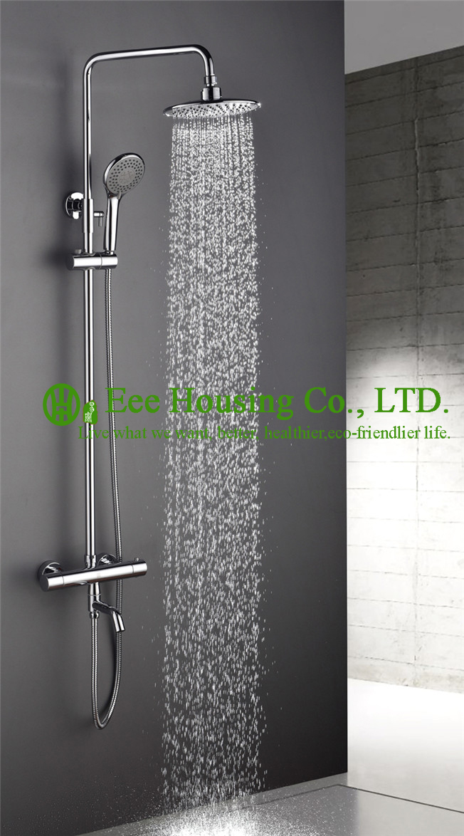 Shower Set Free Shipping Brass 38 Degree Thermostatic Shower Mixer,chrome Finished,shower System,bathroom Accessories