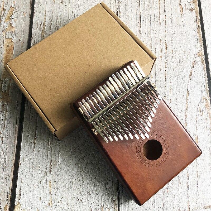 New 17 Key Kalimba African Solid Wood Thumb Finger Piano Sanza Mbira Calimba Play With Guitar Wood Musical Instruments
