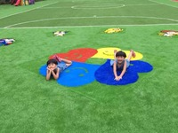 No Lead Designed Cartoon Colourful Children Playground Synthetic Turf