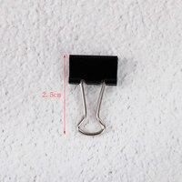 12 шт. 15 мм черный металлическое кольцо клипы отмечает файл письмо бумага фото клип привязки канцелярские аксессуары канцтовары