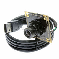 6pcs 2.1/2.8/3.6/6/8/12mm lens 1.3MP 1280*960P AR0130 High speed USB security Camera module video recorder 38x38mm mini board