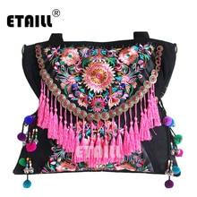 Двусторонняя Китайская Этническая сумка с вышивкой, винтажная сумка с вышивкой Hmong, известный бренд, женские сумки на плечо, Sac Besace Ethnique Brode