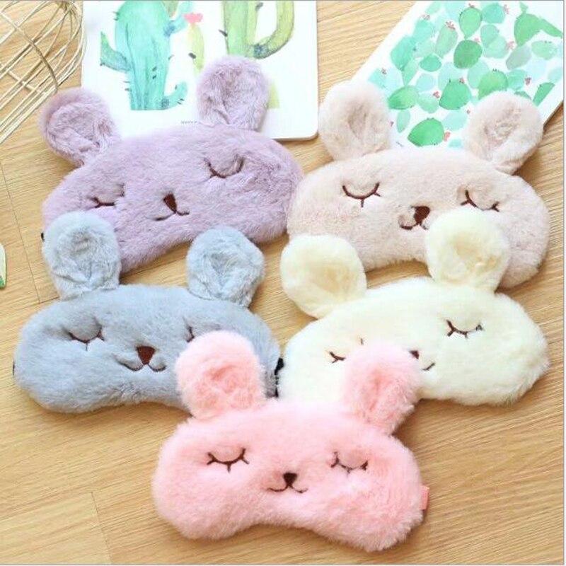 Cute cartoon animal rabbit velvet Sleep eye mask Well Rest Aid Normal Eyeshade Protection cover MR102 цена