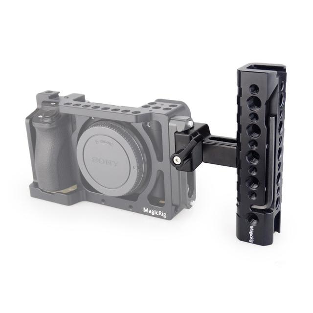 MAGICRIG Câmera Alça NATO Queijo Alça Superior com Arri Buraco Localização/Sapata Fria para Filmadora DSLR Camera Gaiola Gaiola rig