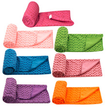 Non Slip Yoga Mat Cover Towel Blanket Sport Fitness Exercise Pilates Workout Free Shipping Well
