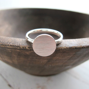 Minimalist Rose Gold Full Moon Ring 1