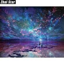 """Полный квадратный алмаз 5D DIY алмазная живопись """"фантазия звезда океан"""" вышивка крестиком Стразы мозаичная декоративная картина подарок"""