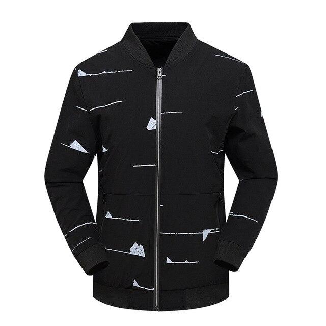 Hop Slim Spring Streetwear Jacket New 2018 Fit Hip Bomber Men Black PTO8Owqxg