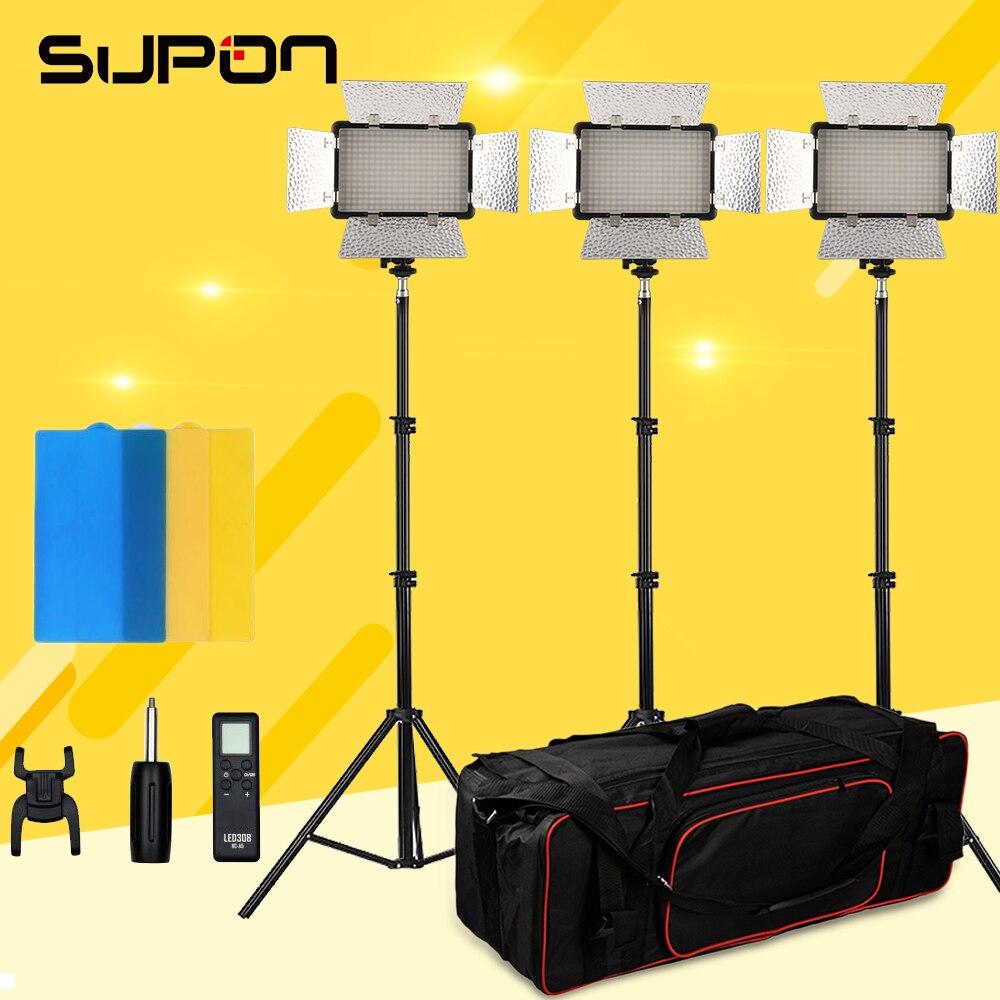 NUOVO Godox LED 308 W II luce Bianca 5600 K LED Video Lampada Della Luce + telecomando per DV Camcorder macchina fotografica + + kit Adattatore CA