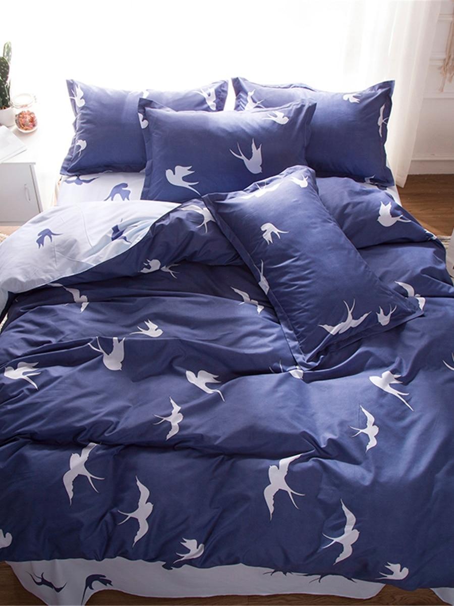 4 Pcs Bedroom Duvet Covers Lifelike Swallow Pattern Soft Bed Clothes 4 Pcs Bedroom Duvet Covers Lifelike Swallow Pattern Soft Bed Clothes