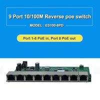 24v 9 porto 10/100 m interruptor reverso 8 porto interruptor reverso poe placa do pwb 100 m interruptor vlan Comutadores de rede     -