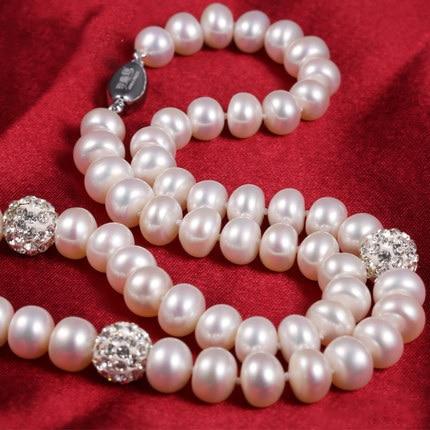 ZHBORUINI 2019 Pearl ყელსაბამი 925 - ლამაზი სამკაულები - ფოტო 3