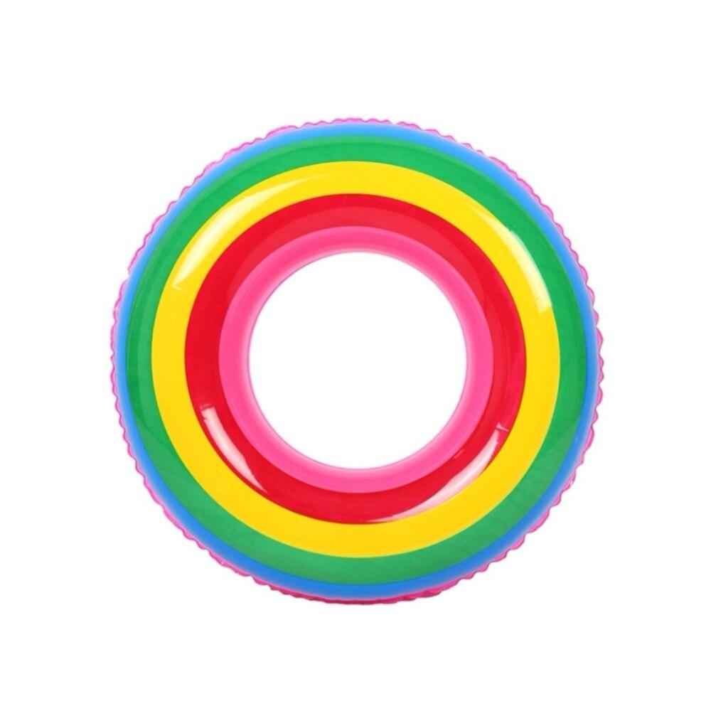 1 Pc Regenbogen Im Freien Schwimmen Ring Farbe Erwachsene Kinder Aufblasbare Schwimmen Ring Kreis Float Rohr Für Segeln Schwimm Pool Spielzeug
