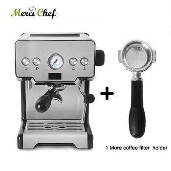 ITOP 15Bar półautomatyczna kawiarka do espresso Cappuccino Latte spienione mleko ekspres do kawy z 1 dodatkowym uchwyt filtra tanie i dobre opinie Z Wyświetlaczem Stainless steel+plastic 1450W IT-CRM3605 220-240 v Americano Machiatto Coffee Machine 25s Cup Italian Espresso Coffee Machine