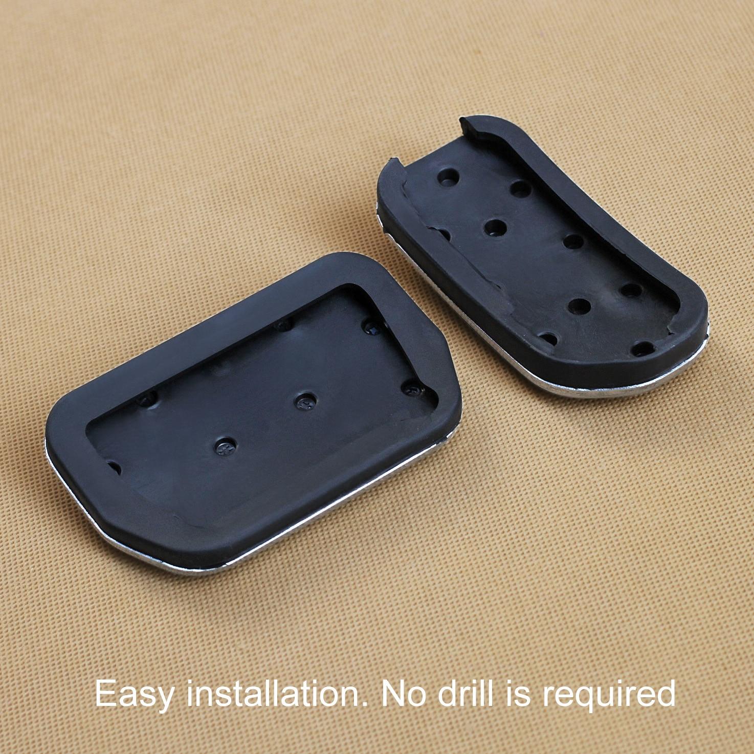 2Pcs//Set Stainless Steel Car Non-Slip Gas Brake Pedal For Toyota RAV4 Lexus NX