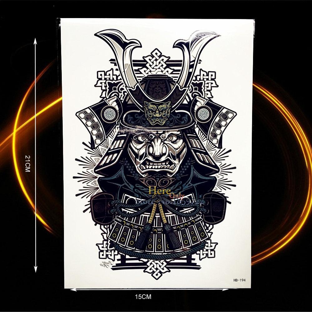 1PC Indian God Patron Saint Black Temporary Removable Tattoo Men Body Art ARm Sleeve Tattoo Sticker HHB194 Indian Warrior knight